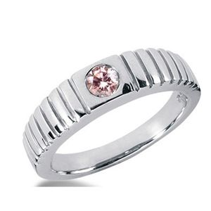 0.35 Carat Grand Rose Diamant Bague 14K Or blanc