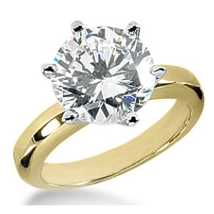 Diamantring Solit�r 2.00 Karat in 585er Gelbgold